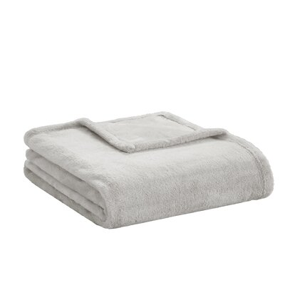 Microlight Plush Throw Color: Grey