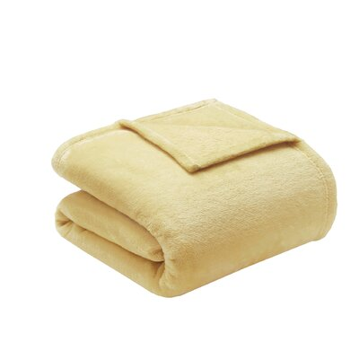 Microlight Over-sized Plush Blanket Size: King, Color: Yellow