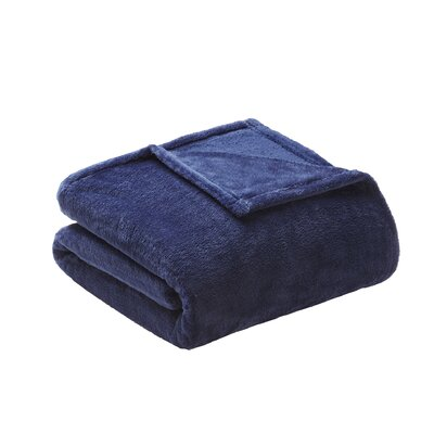 Microlight Over-sized Plush Blanket Size: Full/Queen, Color: Navy