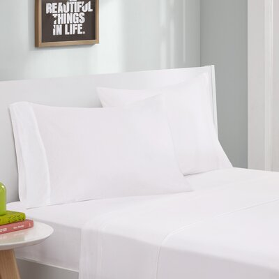 Jersey Knit Sheet Set Color: White, Size: Twin