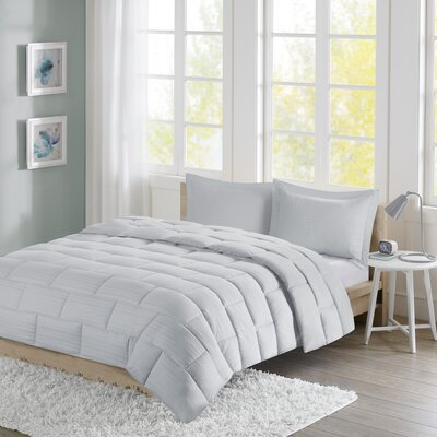 Avery Comforter Set Size: Twin, Color: Gray