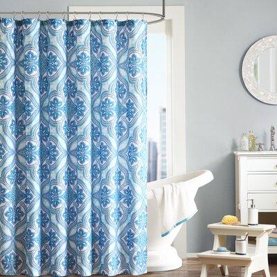 Lionna Shower Curtain Color: Blue