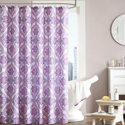 Lionna Shower Curtain Color: Purple