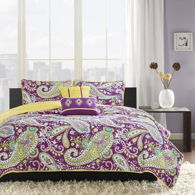 Cairns Coverlet Set Size: Full/Queen, Color: Purple