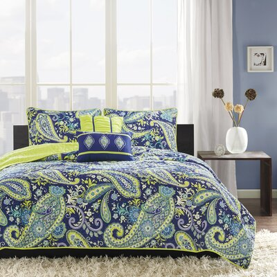 Cairns Coverlet Set Size: Twin/Twin XL, Color: Blue