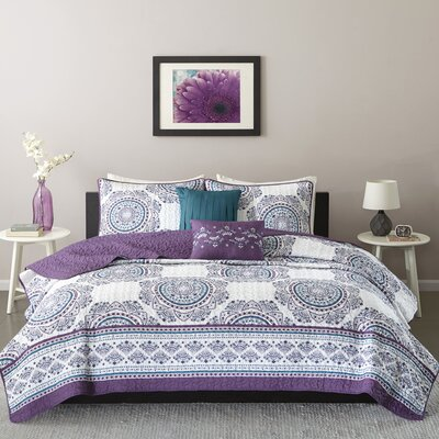 Anika Coverlet Set Size: Twin/Twin XL, Color: Purple