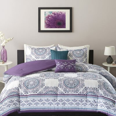 Anika Comforter Set Size: Full/Queen, Color: Purple
