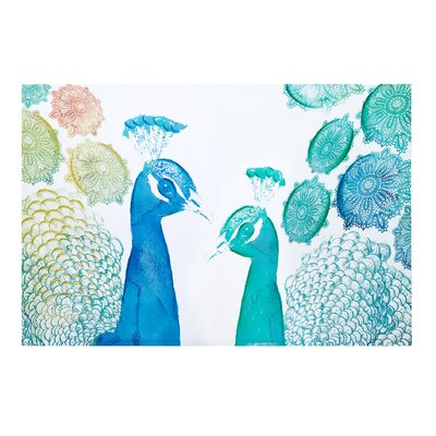 Peacock Party Painting Print ID95C-0009