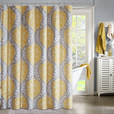 Senna Shower Curtain Color: Yellow