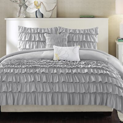 Eladia Comforter Set Size: Twin / Twin XL, Color: Gray