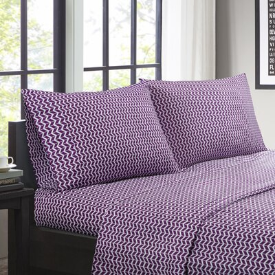 Andres Sheet Set Size: King, Color: Purple