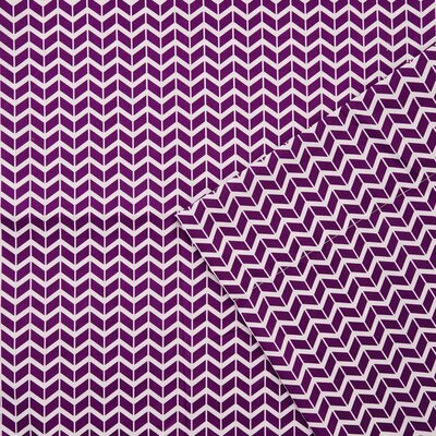 Chevron Sheet Set Size: Twin, Color: Purple