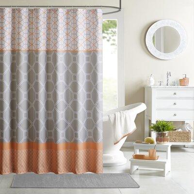Vernetta Microfiber Shower Curtain Color: Orange