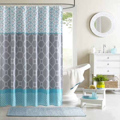 Vernetta Microfiber Shower Curtain Color: Blue