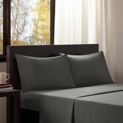 Dima Solid Sheet Set Size: Extra-Long Twin, Color: Charcoal