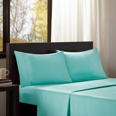 Dima Solid Sheet Set Size: King, Color: Teal