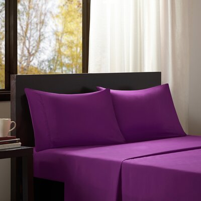 Intelligent Design Solid Sheet Set Color: Purple, Size: Queen