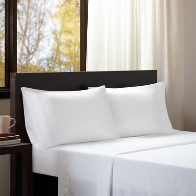 Dima Solid Sheet Set Size: Queen, Color: White