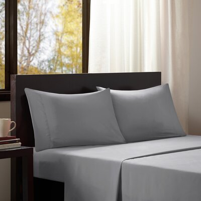 Intelligent Design Solid Sheet Set Size: Twin, Color: Gray