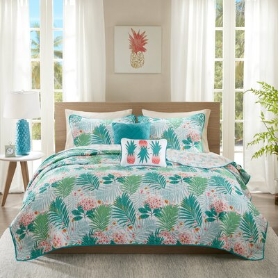 Tropicana Reversible Coverlet Set Size: Full/Queen
