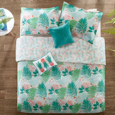 Tropicana Reversible Comforter Set Size: Full/Queen