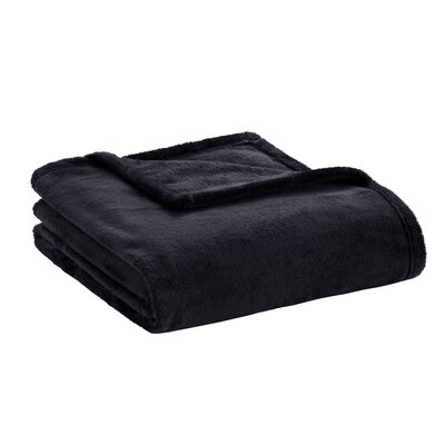 Microlight Plush Throw Color: Black