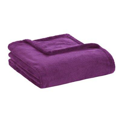 Microlight Plush Throw Color: Purple