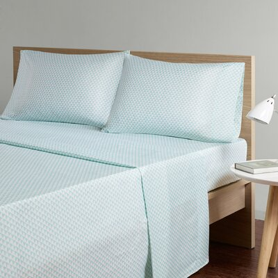 Triangle Sheet Set Size: Queen, Color: Aqua