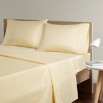 Triangle Sheet Set Size: King, Color: Yellow