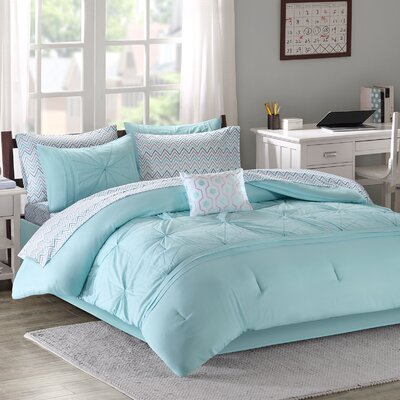 Brandt Comforter Set Size: Queen, Color: Aqua