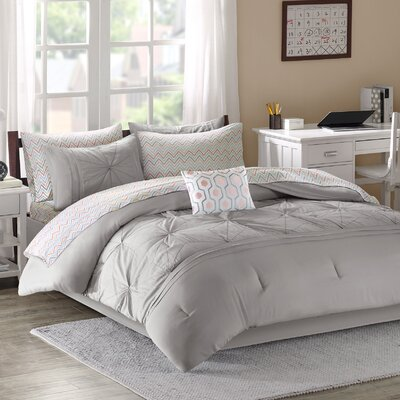 Brandt Comforter Set Size: Full, Color: Grey