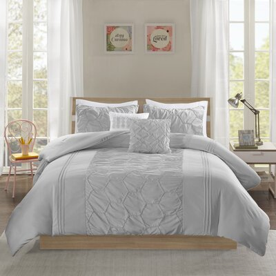 Neville Comforter Set Size: Full/Queen, Color: Gray