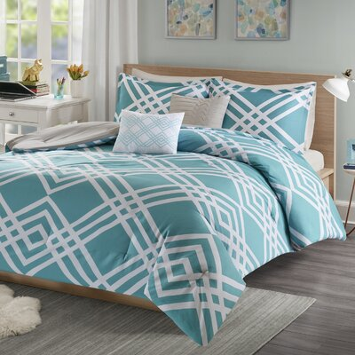 Driggers Ultra Soft Comforter Set Size: Full/Queen, Color: Aqua