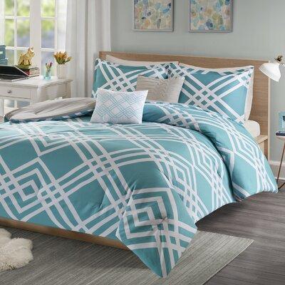 Driggers Ultra Soft Comforter Set Size: Twin/Twin XL, Color: Aqua