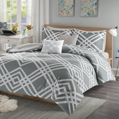 Driggers Ultra Soft Comforter Set Size: Full/Queen, Color: Gray