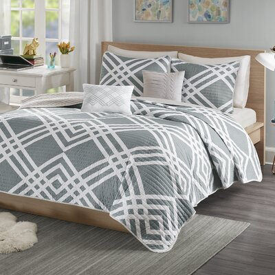 Driggers Ultra Soft Coverlet Set Size: Full/Queen, Color: Gray