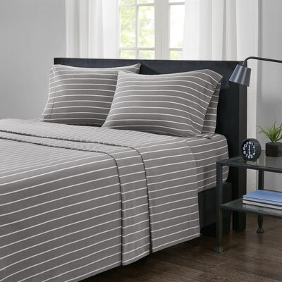 Zdenka Jersey Knit Sheet Set Size: Twin XL, Color: Gray