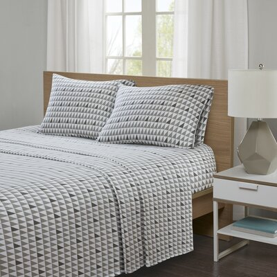 Hultgren Jersey Knit Sheet Set Size: Twin XL, Color: Gray