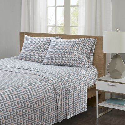Hultgren Jersey Knit Sheet Set Size: Twin XL, Color: Coral