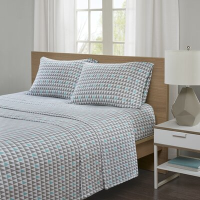 Hultgren Jersey Knit Sheet Set Size: Twin XL, Color: Aqua