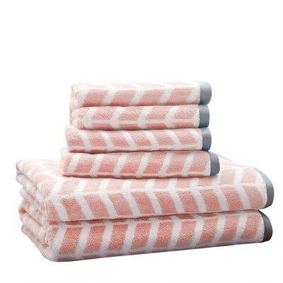 6 Piece Jacquard Towel Set
