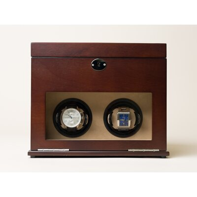 "Hives & Honey 12.5"" Double Watch Winder Valet Box"