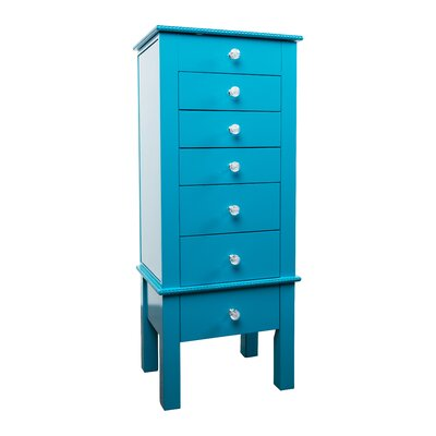 Brooklyn Jewelry Armoire Finish: Turquoise