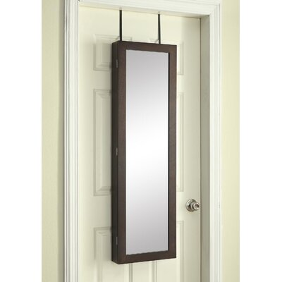 Paige Over the Door Jewelry Armoire with Mirror