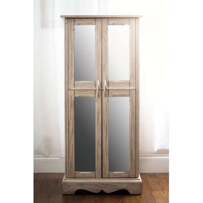 Chelsea Jewelry Armoire with Mirror Color: Gray Mist