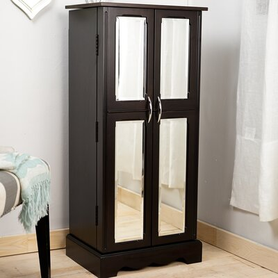 Bayliff Jewelry Armoire with Mirror Color: Espresso