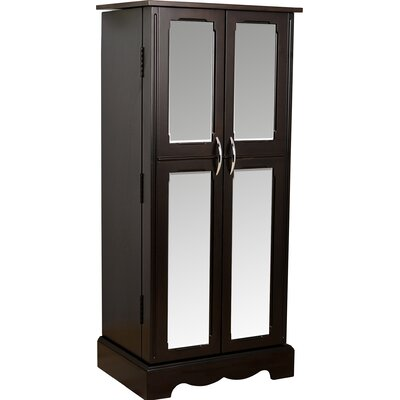 Bayliff Jewelry Armoire with Mirror Finish: Espresso