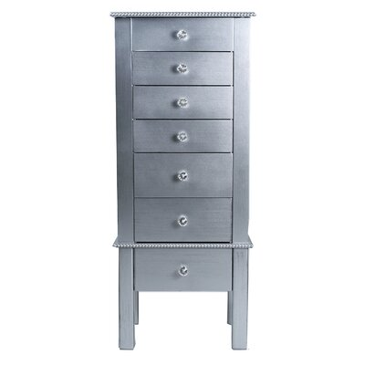 Bangor Jewelry Armoire Finish: Silver