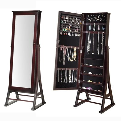 Fleming Eiffel Free Standing Jewelry Armoire with Mirror