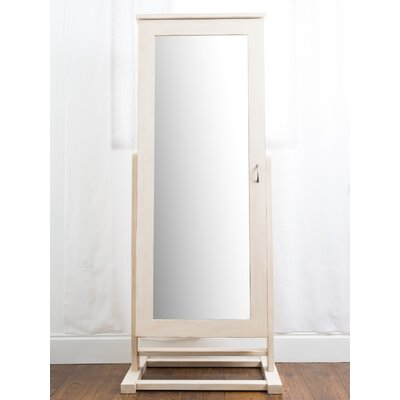 Cheval Free Standing Jewelry Armoire with Mirror
